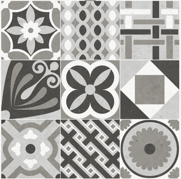 Novabell DECO CEMENTINE MIX  20x20 patchwork
