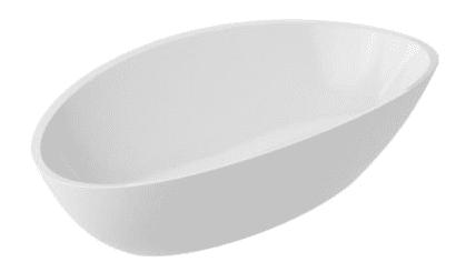 MARMITE umywalka RIVA nablatowa z konglomeratu 60x36 Snow White