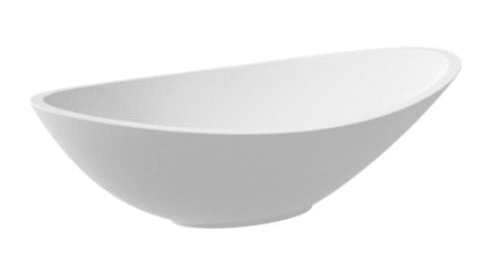 MARMITE umywalka LEA nablatowa z konglomeratu 56x32 LEA0001