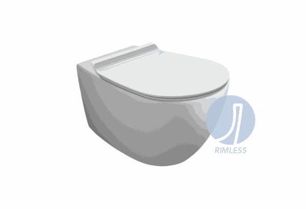 SIMAS Vignoni Miska WC podwieszana z deską wolnoopadającą 56x36,5 VI18+F85