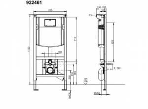 Villeroy & Boch ViCONNECT Stelaż podtynkowy WC z przyciskiem E200 CHROM 92246100+92249061