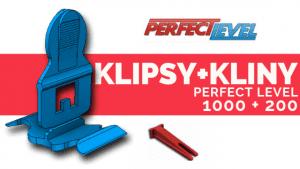 PERFECT LEVEL KLIPSY 1000+200 Kliny System poziomowania płytek DARMOWA WYSYŁKA