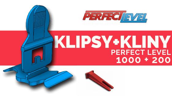 PERFECT LEVEL KLIPSY 1000+200 Kliny System poziomowania płytek