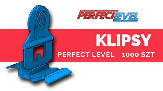 PERFECT LEVEL KLIPSY 1000 szt System poziomowania płytek DARMOWA WYSYŁKA