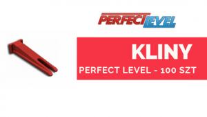 PERFECT LEVEL KLINY 100 szt System poziomowania płytek