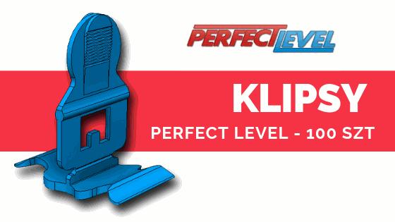 PERFECT LEVEL KLIPSY 100 szt System poziomowania płytek