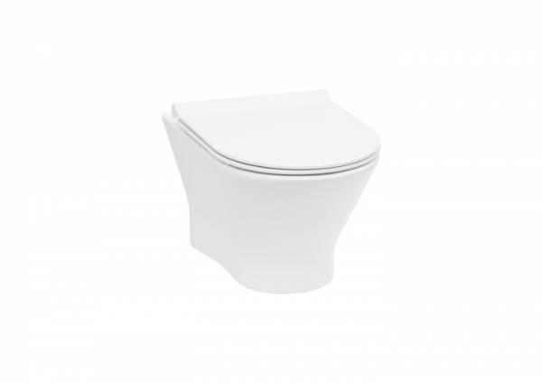 ROCA NEXO Miska WC podwieszana Rimless z deską wolnoopadającą SLIM  A34H64L000 (pack) 53,5x36