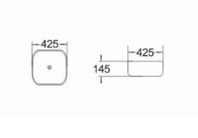 ZOYA Umywalka nablatowa HOLI 425x425x145 mm