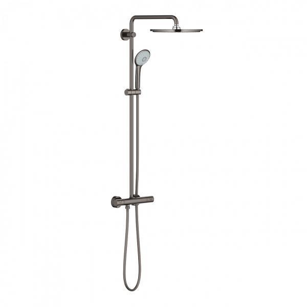 GROHE zestaw natryskowy EUPHORIA SYSTEM 310 z termostatem i deszczownicą kolor HARD GRAPHITE 26075A00