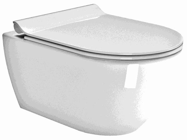 GSI PURA Miska WC podwieszana z deską wolnoopadającą SLIM 881511+MS86CSN11+FISR2  36x55